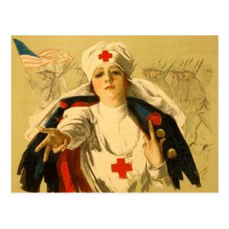 Vintage Red Cross Nurse Postcard