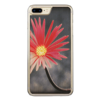 Vintage Red Daisy Flowers Carved iPhone 8 Plus/7 Plus Case