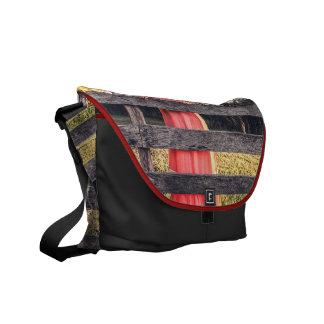 vintage red dress courier bag