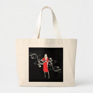 Vintage Red dress  Hangbag Tote Bag