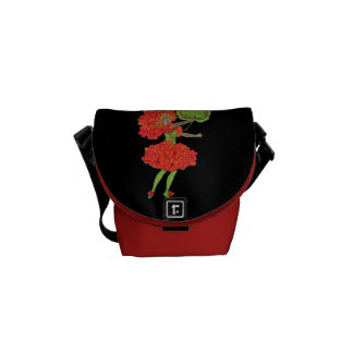 Vintage Red Flower Fairy Graphic Commuter Bag