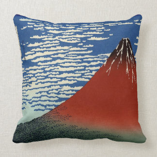 Vintage Red Fuji Cushion