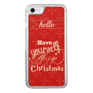 Vintage Red Have Yourself a Merry Little Christmas Carved iPhone 8/7 Case