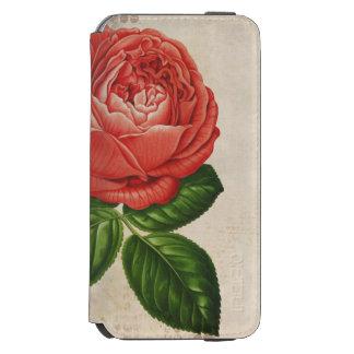 Vintage Red Hybrid Perpetual, Paul Neyron Rose Incipio Watson™ iPhone 6 Wallet Case