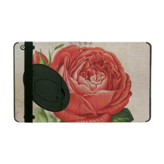 Vintage Red Hybrid Perpetual, Paul Neyron Rose iPad Case
