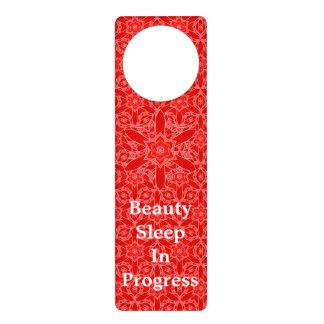 Vintage Red Lace Beauty Sleep Door Hanger