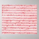 Vintage Red Musical Sheet