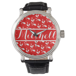 Vintage Red Oak Personalized Wristwatch