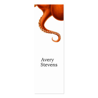 Vintage Red Octopus Marine Biology Nautical No. 2 Pack Of Skinny Business Cards