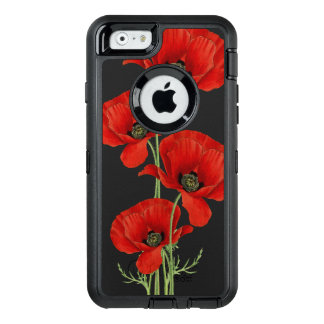 Vintage Red Poppies Botanical OtterBox iPhone 6/6s Case