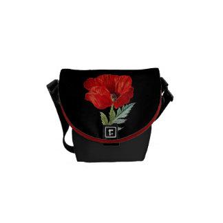 Vintage Red Poppy Flower Graphic Commuter Bag