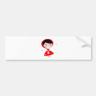 VINTAGE RED RIDING HOOD BUMPER STICKER