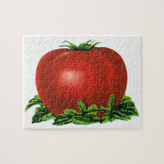 Vintage Red Ripe Tomato, Vegetables and Fruits Jigsaw Puzzle