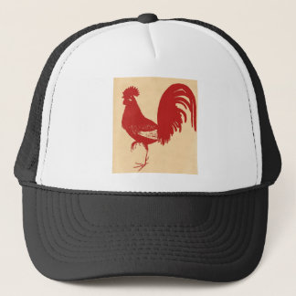vintage-red-rooster--ON ALL ITEMS Trucker Hat