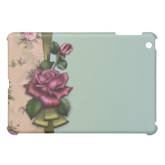 Vintage Red Rose Designer  iPad Mini Cover