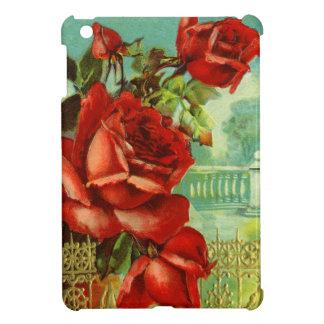 Vintage Red Roses iPad Mini Case