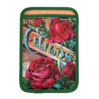 Vintage Red Roses Sleeve For iPad Mini