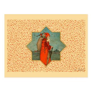 Vintage Red Santa Claus St. Nicholas Postcard