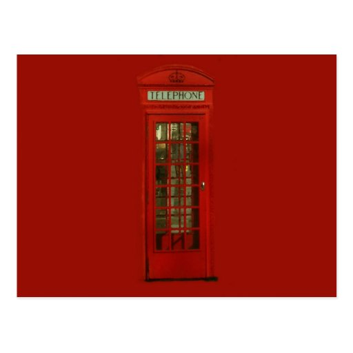 Vintage Red Telephone Box Post Cards
