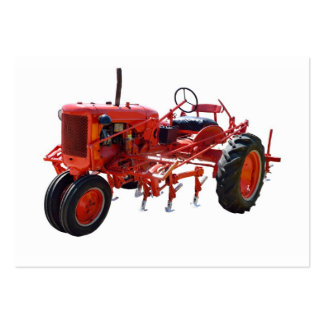 Vintage Red Tractor Pack Of Chubby Business Cards