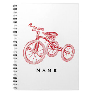 Vintage Red Tricycle Note Books