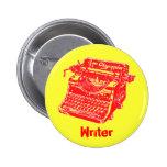 Vintage Red Typewriter 6 Cm Round Badge