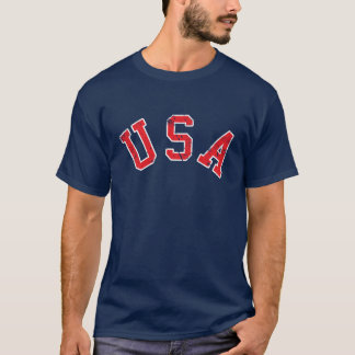 Vintage Red USA T-Shirt