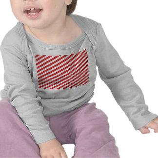 Vintage Red White Girly Stripes Pattern Tshirt