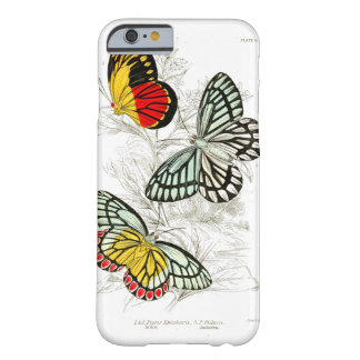 Vintage Red Yellow Butterflies Insects Barely There iPhone 6 Case