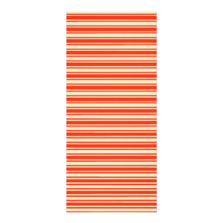Vintage Red Yellow Chic Stripes Pattern Custom Rack Card