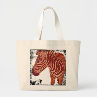 Vintage Red Zebra Art Bag