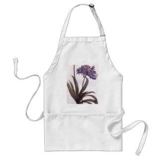 Vintage Redoute Purple Flower Apron