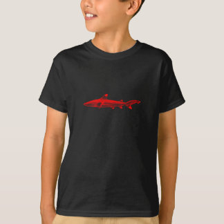 Vintage Reef Shark Illustration Red Black Sharks T-Shirt