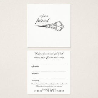 Vintage Refer a Friend Referral Salon Client Cards