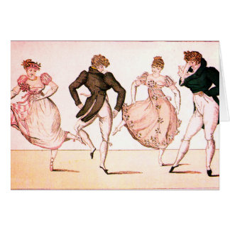 Vintage Regency and Jane Austen Period Dance Card