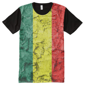 Vintage reggae flag All-Over print T-Shirt