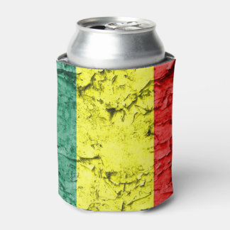 Vintage reggae flag can cooler