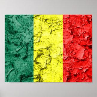 Vintage reggae flag poster