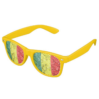 Vintage reggae flag retro sunglasses