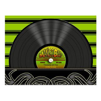 Vintage Reggae Vinyl Record Personalized Postcards