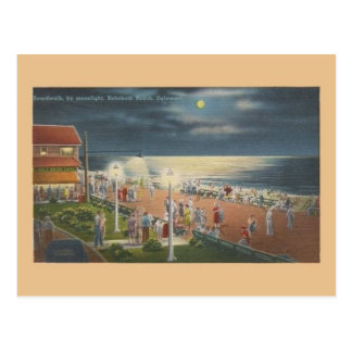 Vintage Rehoboth Beach by Moonlight Post Card