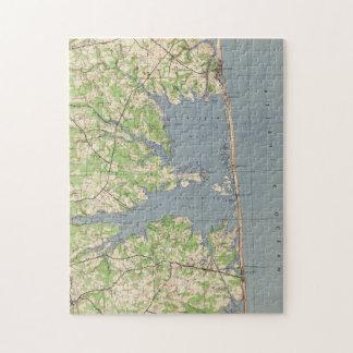 Vintage Rehoboth & Bethany Beach DE Map (1944) Jigsaw Puzzle