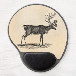 Vintage Reindeer Illustration -1800 s Christmas Gel Mouse Mat