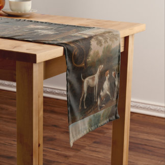 Vintage Releasing the Hounds by John Wootton Short Table Runner