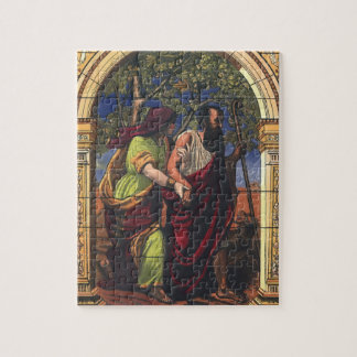 Vintage Religion, Blind Tobit and Wife Anna Jigsaw Puzzle