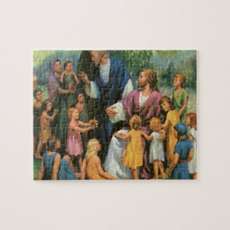Vintage Religion, Christ Blessing the Children Jigsaw Puzzle