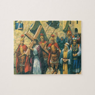Vintage Religion, Christ Carrying the Cross Jigsaw Puzzle
