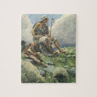 Vintage Religion, David the Shepherd by Copping Jigsaw Puzzle