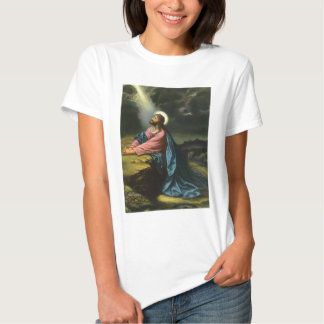 Vintage Religion, Gethsemane, Jesus Christ Praying Tshirts
