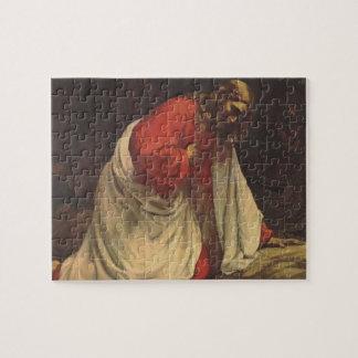 Vintage Religion, Jesus Christ in Gethsemane Jigsaw Puzzle